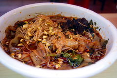 Chinese food, spicy noodles Stock Image
