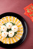 Chinese food:squid and sashimi Royalty Free Stock Image