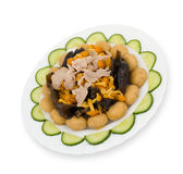 Chinese food. Аssorted mushrooms, clipping path. Stock Images