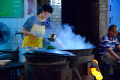Chinese food stall Xian Royalty Free Stock Images