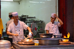 Chinese food stall Xian Stock Images