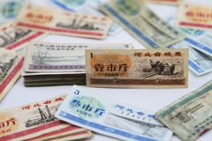 Chinese food stamps. stock photography
