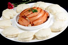 Chinese Food: Steamed Bread Stock Photography