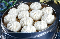 Chinese food, steamed bun Stock Photos