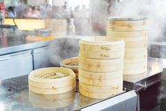 Chinese food are steaming in restaurant Stock Photography