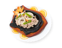 Chinese food. Stewed pork, clipping path. Stock Photo