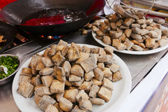 Chinese  food -Stinky tofu Royalty Free Stock Image