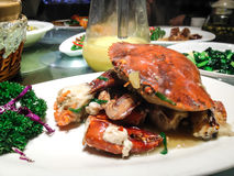 Chinese food, stir crab Stock Photos