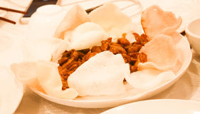 Chinese food stir fried pork with fish sauce Stock Photos