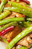 Chinese  food-String beans and  meat Royalty Free Stock Image