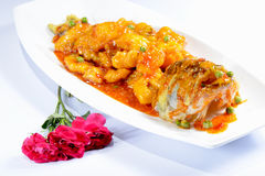 Chinese Food: Sweet and Sour Perch Royalty Free Stock Photography