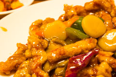 Chinese food sweet and sour Stock Photos
