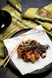 Chinese food - Szechuan chicken Royalty Free Stock Photos