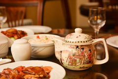 Chinese food on table Stock Images