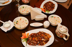 Chinese food on table Royalty Free Stock Photo