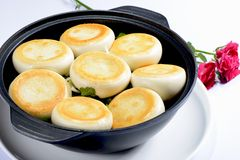 Chinese Food: Toasted Dumplings Stock Photo