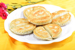 Chinese Food: Toasted Dumplings Royalty Free Stock Image