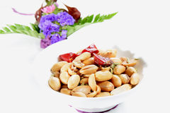 Chinese Food: Toasted peanut Stock Photography