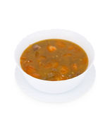 Chinese food. Tomato soup, clipping path. Royalty Free Stock Photography