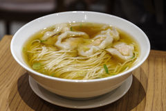Chinese food - wanton noodle Royalty Free Stock Images