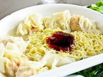 Chinese food, wonton noodle 2 Royalty Free Stock Photography