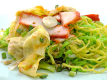 Chinese food wonton and noodle Stock Photos