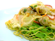 Chinese food wonton and noodle Royalty Free Stock Images