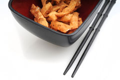 Chinese food wonton strips Royalty Free Stock Photography
