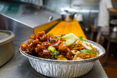 Chinese foods general tsos chicken Royalty Free Stock Photography