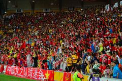 Chinese Football Supporters In Australia Royalty Free Stock Photos
