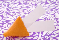 Chinese Fortune Cookie. With blank space for your message Royalty Free Stock Photo