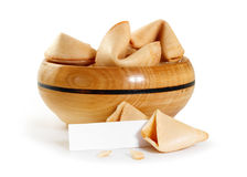 Chinese fortune cookie with blank paper strip Royalty Free Stock Photos