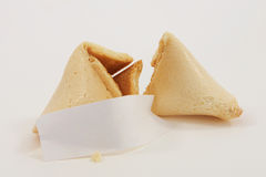 Chinese Fortune Cookie isolated on white background Stock Photos
