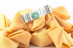 Chinese Fortune Cookie open wi Royalty Free Stock Photos