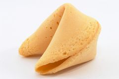 Chinese Fortune Cookie from side, closeup. On white background Stock Images
