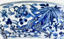 Chinese Four Claw Dragon. Closeup of antique 18th century Chinese porcelain four claw dragon royalty free stock photo
