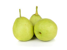 Chinese fragrant pear isolated on white background Royalty Free Stock Images