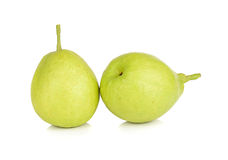 Chinese fragrant pear isolated on white background Stock Photo