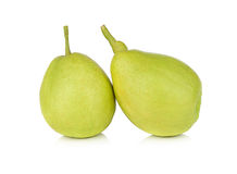 Chinese fragrant pear isolated on white background Royalty Free Stock Photos