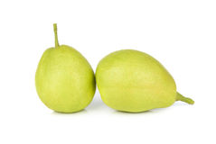 Chinese fragrant pear isolated on white background Stock Images