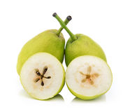 Chinese fragrant pear on white background Royalty Free Stock Image