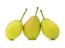 Chinese fragrant pear on white background Stock Photos