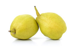 Chinese fragrant pear on white background Stock Images