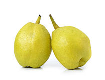 Chinese fragrant pear on white background Stock Image