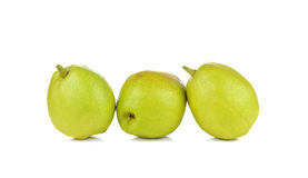Chinese fragrant pears  on white background Stock Photo