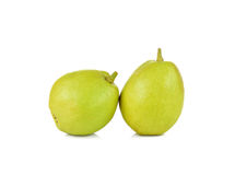 Chinese fragrant pears  on white background Royalty Free Stock Photography