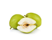 Chinese fragrant pears  on white background Stock Image