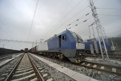 Chinese Freight train Stock Photography