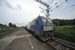 Chinese  Freight train Stock Photo