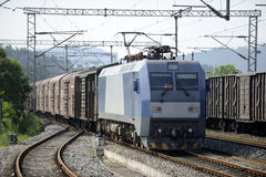 Chinese Freight train Royalty Free Stock Image
